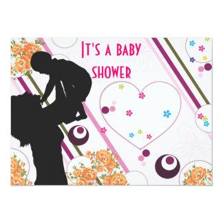 Invitation mignonne v4 de baby shower carton d'invitation  13,97 cm x 19,05 cm