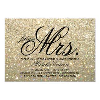 Invitation - Mme ouvrière Bridal Shower de Glit Carton D'invitation 8,89 Cm X 12,70 Cm
