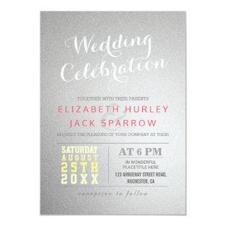 Invitation moderne de célébration de mariage