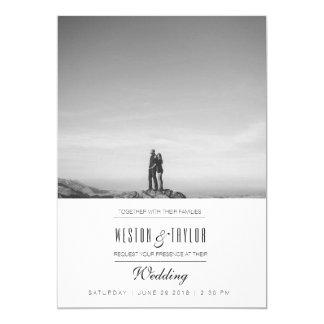 Invitation moderne et minimal de photo de mariage