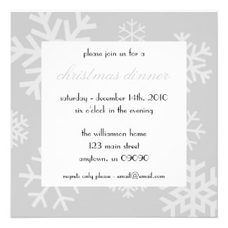 Invitation multiple de Noël de flocons de neige (a