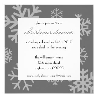 Invitation multiple de Noël de flocons de neige (g