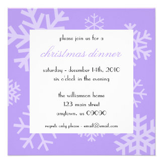 Invitation multiple de Noël de flocons de neige (v