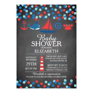 Invitation nautique de baby shower de garçons de