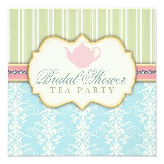 Invitation nuptiale chic de thé de douche de