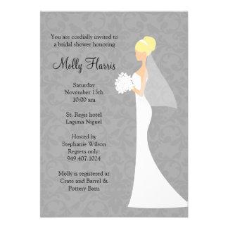 Invitation nuptiale de douche avec les enveloppes