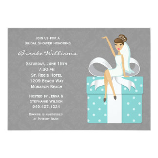 Invitation nuptiale de douche de damassé