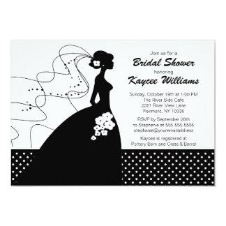 Invitation nuptiale de douche de jeune mariée de carton d'invitation  12,7 cm x 17,78 cm