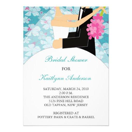 Invitation nuptiale de douche de jeune mariée flor