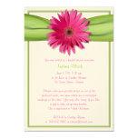 Invitation nuptiale de douche de marguerite rose