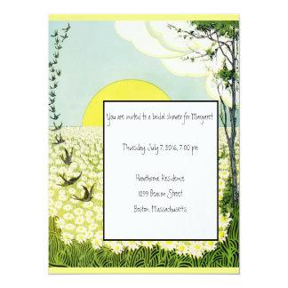 Invitation nuptiale de douche de marguerites et