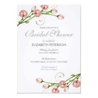 Invitation nuptiale de douche de roses floraux carton d'invitation  12,7 cm x 17,78 cm