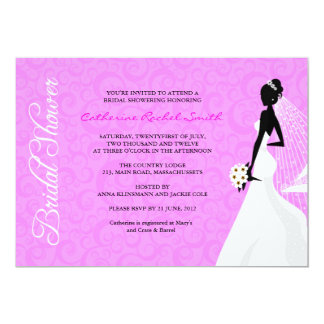 Invitation nuptiale de douche de silhouette