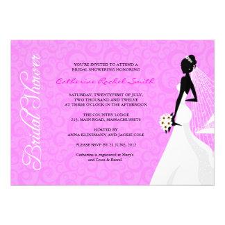 Invitation nuptiale de douche de silhouette d'Eleg