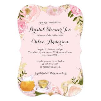 Invitation nuptiale de douche de tasse de thé