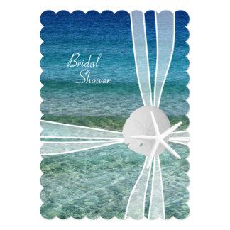 Invitation nuptiale de douche d'étoiles de mer de