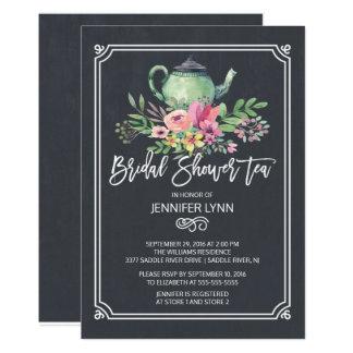 Invitation nuptiale de wedding shower de thé de