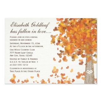 Invitation nuptiale découpée de douche d'automne