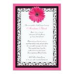Invitation nuptiale florale de douche de