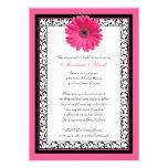 Invitation nuptiale florale de douche de marguerit