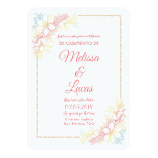 Invitation of personalizável Marriage with flowers