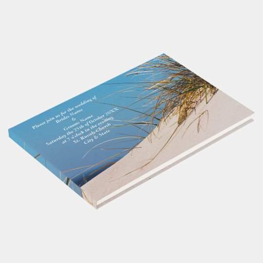 Invitation On the Beach Guest Book