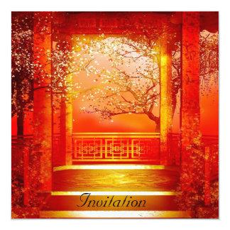Invitation Oriental Red Gold