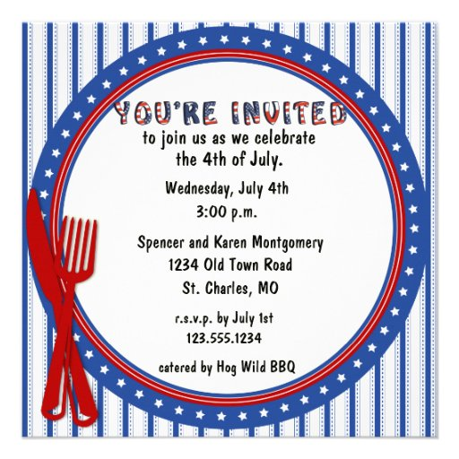 Invitation orientée patriotique de partie