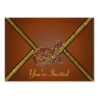 Invitation ornée de bijoux de partie de tigre