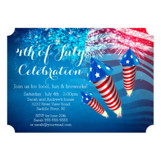 Invitation patriotique de partie de feux