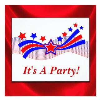Invitation patriotique d'élection de bannière