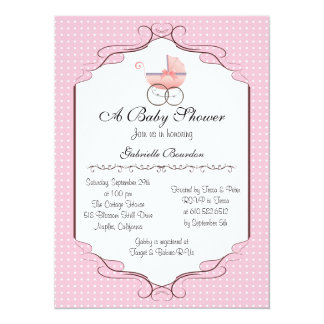 Invitation personnalisé par baby shower simplement