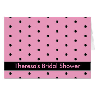 Invitation: Pink and Black Dots Card