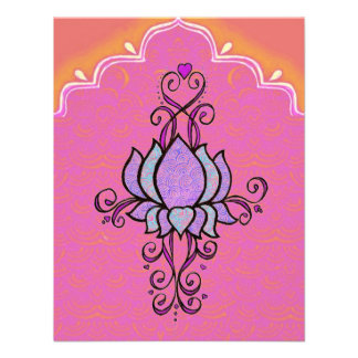Invitation Pink Henna Mehndi