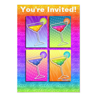 Invitation - Pop Art Margaritas