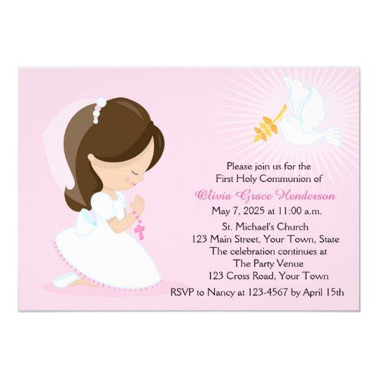 99pujolmarta Carte Invitation Premiere Communion Fille
