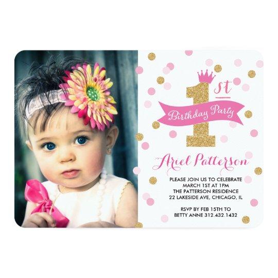 Invitation Princesse Photo D Anniversaire De La Fete Zazzle Ca
