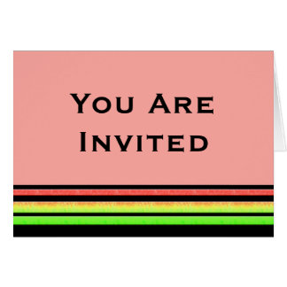 Invitation  Rainbow Stripes