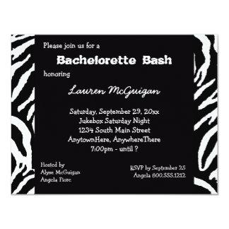 Invitation rayée de partie de Bachelorette de Carton D'invitation 10,79 Cm X 13,97 Cm