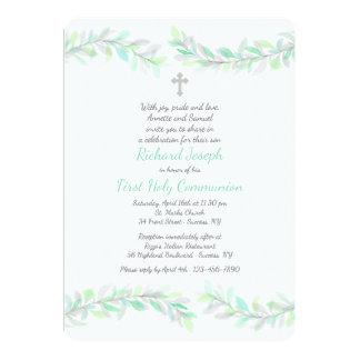 Invitation religieuse de branches gracieuses