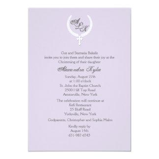 Invitation religieuse de croix de feuille de carton d'invitation  12,7 cm x 17,78 cm