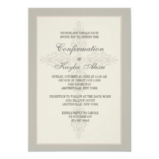 Invitation religieuse de filigrane croisé carton d'invitation  12,7 cm x 17,78 cm