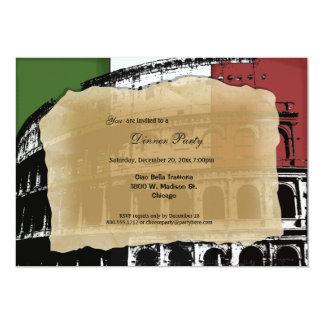 Invitation romain contemporain de dîner de Colisé