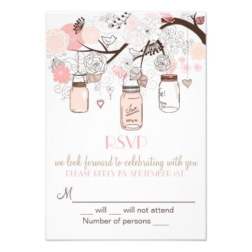 Invitation rose de mariage de pots et