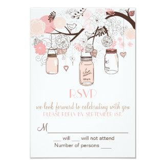 Invitation rose de mariage de pots et carton d'invitation 8,89 cm x 12,70 cm