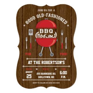 Invitation rustique de barbecue