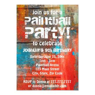Invitation rustique de partie de Paintball