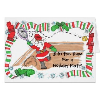 Invitation -Santa On Court