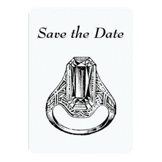 Invitation - Save the Date Vintage Diamond Ring