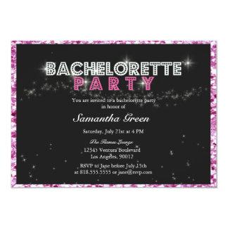 Invitation scintillante de partie de Bachelorette